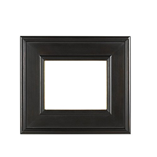(Rabbetworks Plein Air Picture Frame Brushed Black with gold lip size 11x14)
