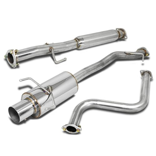 - For Honda Accord Stainless Steel 4 inches Muffler Tip Catback Exhaust System - 4th Gen CB7 CB9 F22