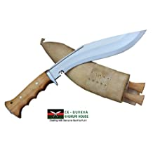 "Genuine Gurkha Hand Forged Kukri - 10"" Blade Authentic British Gurkha Iraqi Operation Gripper Blocker Handle Khukuri - By Ex Gurkha Khukuri House in Nepal"