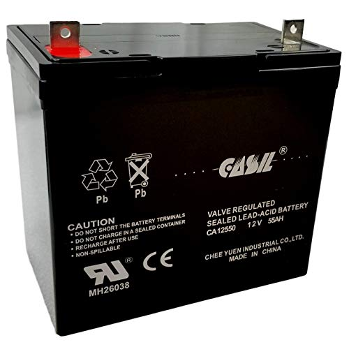 12v 55ah Group 22NF SLA AGM Deep Cycle Rechargeable Replacement Battery by Casil CA12550