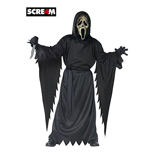 Scream 4 Zombie Ghost Face Kids Costume, One Size Up To Size 12 (Scream Costume Kids)