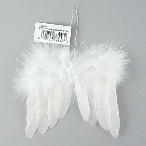 Ornaments Christmas Feather (Zucker Angel Wing Feather Christmas Ornament)