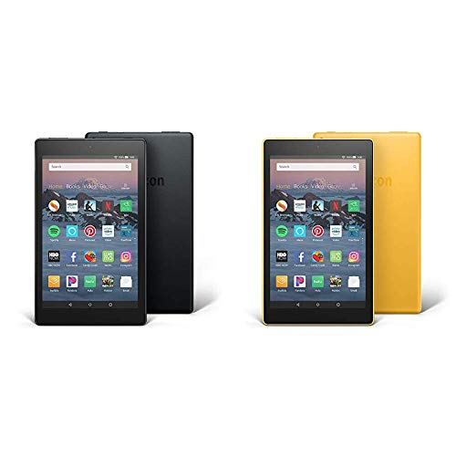 Fire HD 8 2-Pack, 16GB - Includes Special Offers (Black/Canary Yellow)