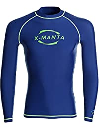 Rash Guard Men Long Sleeve UPF 50+ UV Protection Swimsuits Top