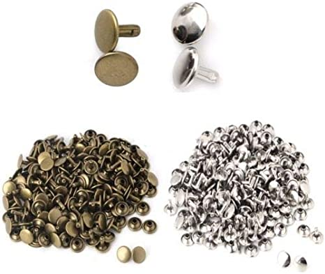 10x10 Choose Size /& Finish 3//8 Bronze Pkg 25 Metal Double-Sided Rivet Studs Leather Crafts 5200