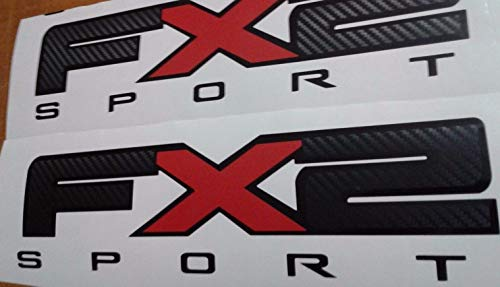 - Montree Shop fx2 Sport Decal Sticker, Fiber Carbon Truck 3D Cut (Set)