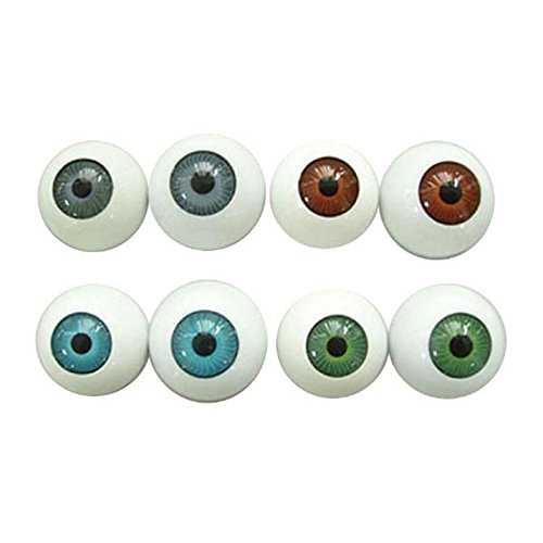 Halloween Costume Props (WINOMO 8PCS Hollow Eyeball Mask Halloween Horror Props Costume Plastic Eyeballs For Halloween)