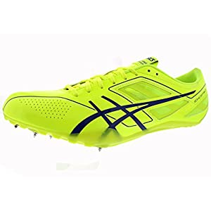 ASICS Men's Sonicsprint Track And Field Shoe,Flash Yellow/Deep Blue,12 M US