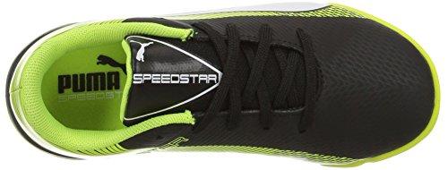 Puma evoSPEED Star S Jr Skate Shoe Puma Black-puma White-safety Yellow
