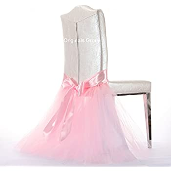 Originals Group Tulle Chair Tutu Skirt With Sash Bow Chair Covers For  Wedding, Party Supplies