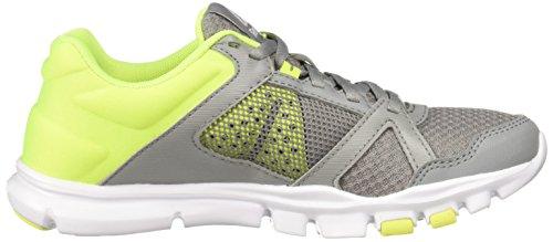 MT Tin Reebok Trainette Grey 10 Solar Women's Trainer Yellow Cross Yourflex White rn1Iq0wxI