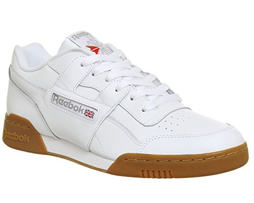 Reebok WORKOUT PLUS - Zapatillas deportivas, Hombre Blanco (White / Carbon / Classic Red / Reebok Royal / Gu 000)