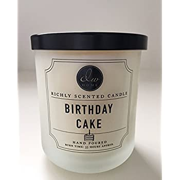 DW Home Medium Single Wick Candle Birthday Cake