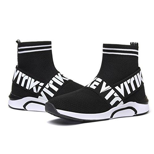 nero All'aperto Lacci Donna Ragazze Interior Sneakers C Sportive No Calzino Da Scarpe Casual Ginnastica xqFBpOxw