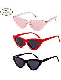 Retro Vintage Cat Eye Sunglasses for Women Clout Goggles...