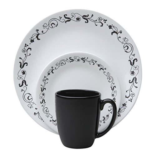 Corelle Livingware 32-Piece Dinnerware Set, Garden Getaway, Service for 8 (Two 16-Piece Sets)