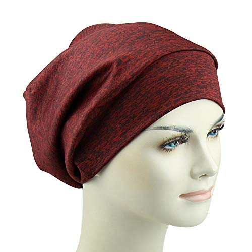 Silky Satin Lined Slouchy Sleep Cap Slap Beanie Hat Frizzy Headwear Breathable Bamboo Viscose Hats by FocusCare (Image #6)