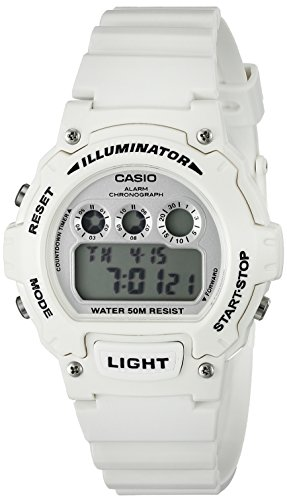 Casio W 214HC 7BVCF White Chronograph Watch