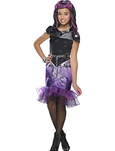Child's Girls Cute Ever After High Raven Queen Dress Costume ()