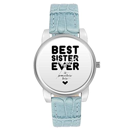 Bigowl White Dial Best Sister Ever Watch Gifts For Sister
