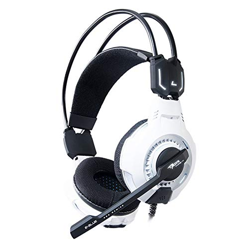Aceyyk Gaming Headset, PS4 and PC USB 7.1 Surround Sound Noise Cancelling Headphones Headphone with Microphone and Volume Control HD Audio Strong Bass Mic,White