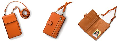Cross for Bags Small purse size OYIGE Coin Shoulder Women Body Orange Bags Mini dEqwnXX4t