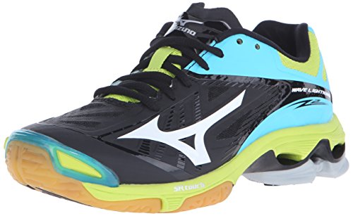 Mizuno Women's Wave Lighting Z2 Volleyball Shoe, Black/Blue Atoll, 12 D US