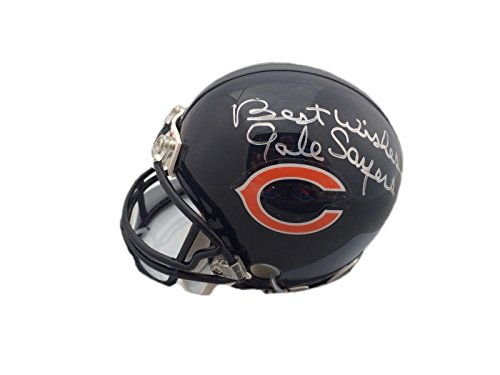 gale sayers signed mini helmet - 1
