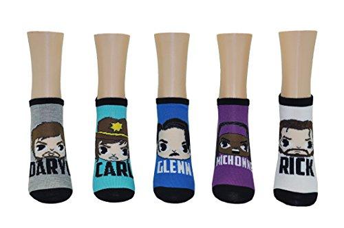- The Walking Dead Low Cut Socks (5 Pair) - Ladies Apparel - TWD Fun Novelty Socks