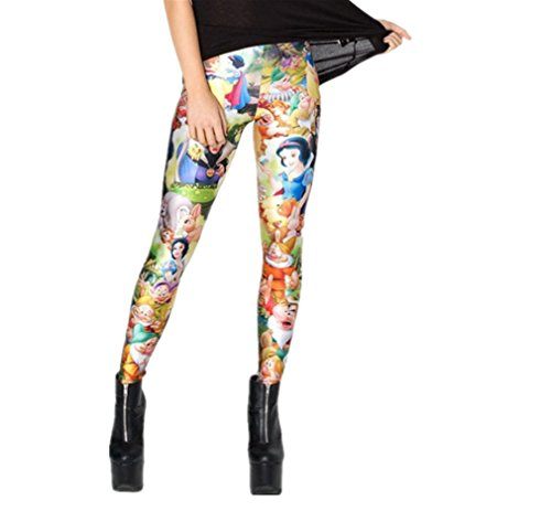 Women's Sexy Galaxy Pirate Fitness Pants Limited Printed Snow White Leggings