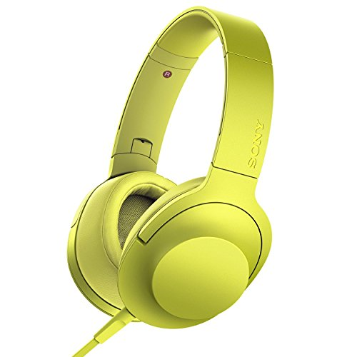 Sony MDR-100AAP On-Ear Hi-Res Audio Headphones (Lime Yellow)