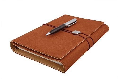 Coi ethinic brown best self journal business undated passion goal planner / daily diary & little more organizer/personal planner 2017-2018 with pen with Free Pen