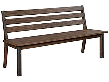 Wondrous Amazon Com Atwater Dining Bench With Metal Studded Accents Dailytribune Chair Design For Home Dailytribuneorg