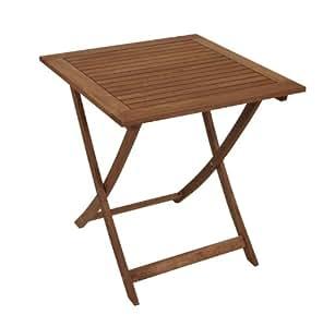 Mesa plegable (madera de eucalipto endurecida, superficie engrasada, 70x70 cm, certificado FSC)