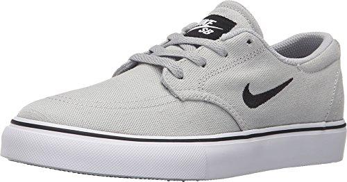 Nike Boy's SB Clutch Grade School Skateboarding Shoes (4.5 Big Kid M, Wolf Grey/Black/White)
