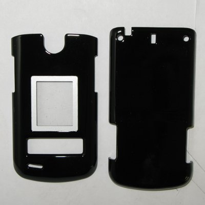 3 Pack Snap-On Cover Hard Case Cell Phone Protector for LG VX8600 (Black, Clear, Smoke)
