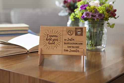 - Qualtry for Her, Wife, Girlfriend, Daughter, Mom, Couples - Unique Wood Message Cards 5 1/2