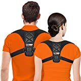 Posture Corrector For Men And Women, Upper Back Brace For Clavicle Support,  Adjustable Back Straightener And Providing Pain Relief From Neck, Back &...