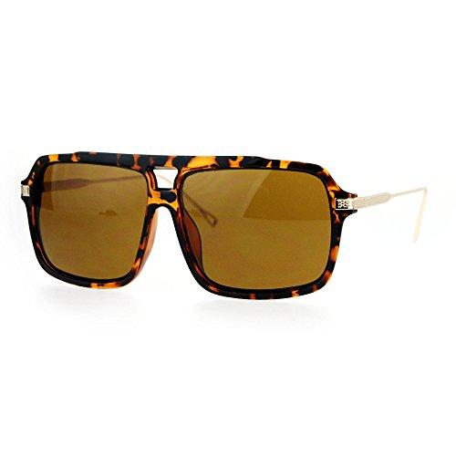 Retro Vintage Hip Hop Rapper Oversized Mob Aviator Racer Sunglasses Tortoise - Hop Hip Sunglasses