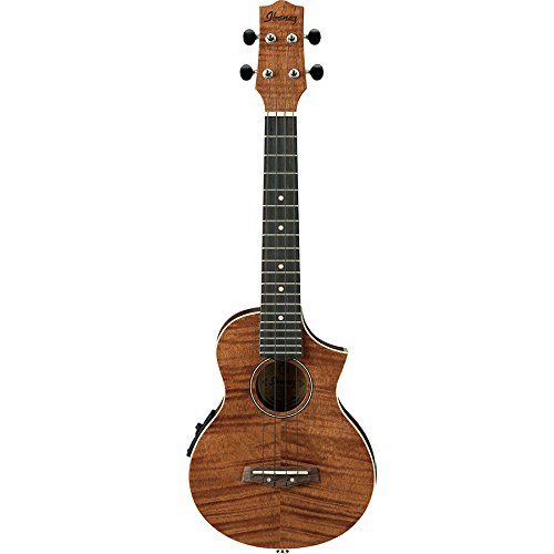 Ibanez UEW15E Flame Mahogany Concert Acoustic-Electric Ukulele Natural by Ibanez
