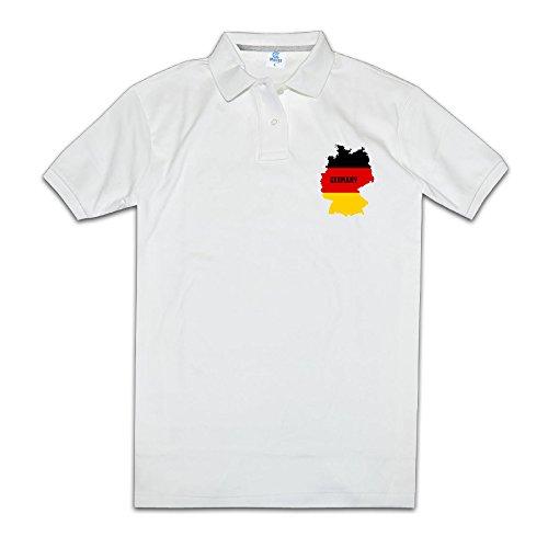Los hombres de la bandera de Alemania Mapa Polo de manga corta para mujer novedad Negro