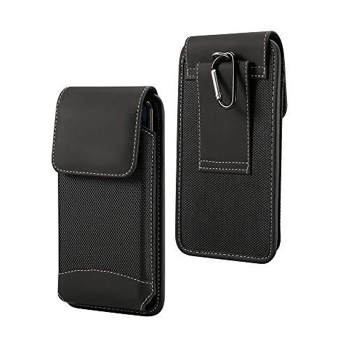 - DFV mobile - Belt Case Cover Vertical Leather & Nylon for => INFOCUS A1 M500 > Black