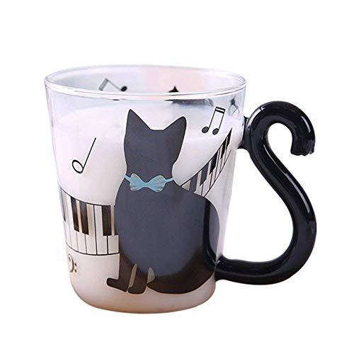 Taza creativa con forma de gato (Cristal)