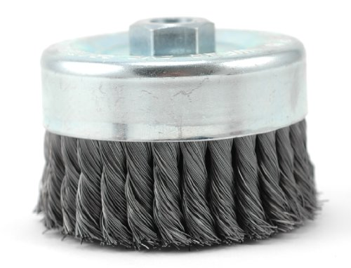 Hot Max 26065 6-Inch Single Row Knotted Wire Cup Brush, Coarse, 5/8-Inch-11NC