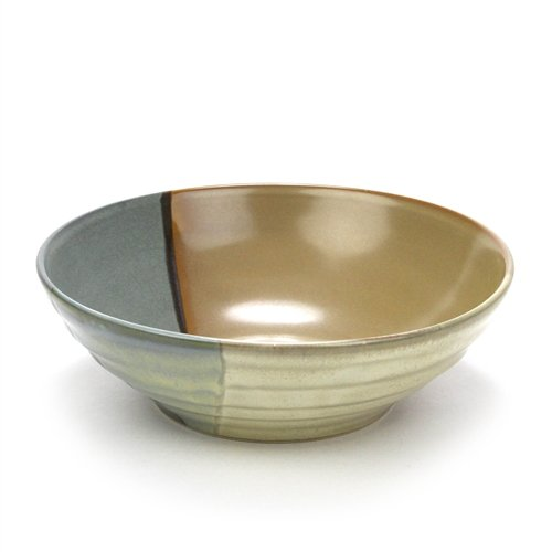 Sango Stoneware Bowls (Gold Dust Green by Sango, Stoneware Soup/Cereal Bowl)