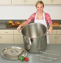 Precise Heat 3-Piece 65-Quart Stainless Steel Stock Pot Cookware Set
