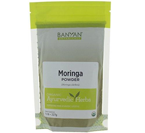 Banyan Botanicals Moringa Leaf Powder - USDA Certified Organic - Moringa Oleifera - Sun Dried - Raw Herbal Superfood - Natural Energy Boost for Optimal Wellness * by Banyan Botanicals