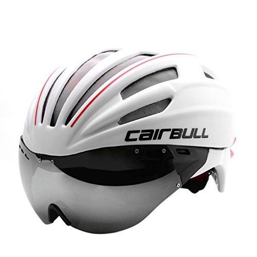 LightInTheBox Unisex Full-Face Bike helmet 28 Vents Cycling Road Cycling Medium: 54-60cm PC/EPS White/Green/Red/Blue (White)