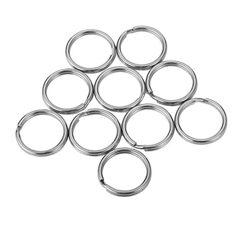 Clasp Including (10 Pcs Stainless Steel Key Rings Jewelry Findings Silver Tone for Keys Organization DIY Arts Crafts)