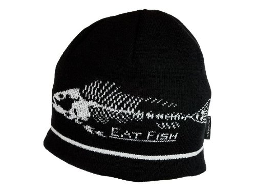 Grundens Eat Fish Beanie - Black/White - One size fits all